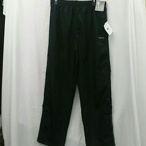 Reebok black woven  pants size medium